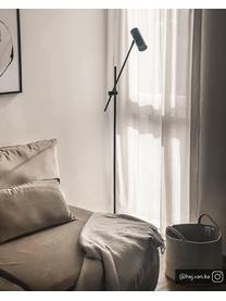 Lampada da lettura in metallo Cassandra, Paralume: metallo verniciato a polv, Base della lampada: metallo verniciato a polv, Paralume: nero opaco Base della lampada: nero opaco Cavo: nero, Larg. 75 x Alt. 152 cm