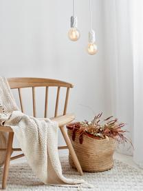 Kleine hanglamp Hang van porselein, Fitting: porselein, Wit, Ø 5 x H 9 cm