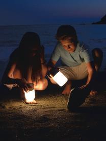 Zewnętrzna mobilna lampa LED z głośnikiem Sound Jar, Odcienie srebrnego, biały, Ø 9 x W 14 cm