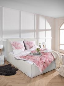 Letto imbottito in tessuto beige con testiera Dream, Rivestimento: 100% poliestere Il rivest, Tessuto beige, 180 x 200 cm