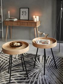 Tablett-Tisch Oak Tray, Tischplatte: Mitteldichte Holzfaserpla, Braun, Ø 47 x H 56 cm