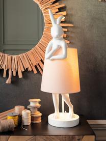 Duża lampa stołowa Rabbit, Biały, blady różowy, Ø 23 x W 68 cm