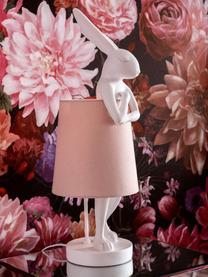 Lampa stołowa Rabbit, Biały, blady różowy, Ø 23 x W 68 cm