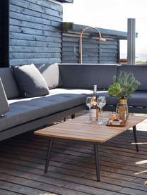 Modulares Gartensofa Rio, Gestell: Aluminium, pulverbeschich, Bezug: Polyester mit Schaumfüllu, Braun, Anthrazit, 283 x 80 cm