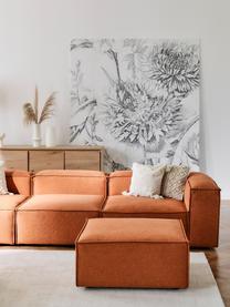 Sofa-Hocker Lennon in Terrakotta, Bezug: Polyester Der hochwertige, Gestell: Massives Kiefernholz, Spe, Füße: Kunststoff, Webstoff Terrakotta, 88 x 43 cm