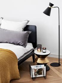 Liseuse en métal noir Grazia, Pied de lampe et abat-jour: noir<br>Attache: couleur dorée, mat