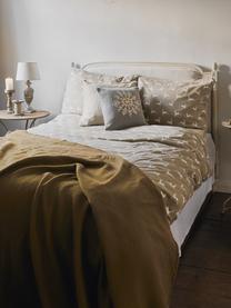 Pościel z flaneli Rudolph, Beżowy, biały, 135 x 200 cm + 1 poduszka 80 x 80 cm