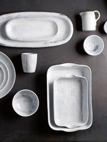 Tezza Haze, 2 pz., Ceramica, smaltata, Bianco, grigio, Ø 10 x A 11 cm