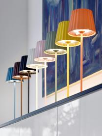 Mobile Dimmbare Außentischlampe Trellia, Lampenschirm: Aluminium, lackiert, Lampenfuß: Aluminium, lackiert, Weiß, Ø 15 x H 38 cm