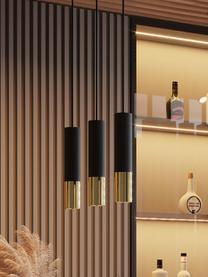 Lampa wisząca Longbot, Czarny, odcienie złotego, S 40 x W 30 cm