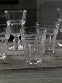 Wassergläser Floyd mit verspieltem Relief, 6er-Set, Glas, Transparent, Ø 9 x H 11 cm