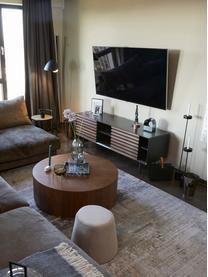 Tv-meubel Kesia met walnoothoutfineer, Grafietgrijs walnootkleurig, 162 x 58 cm