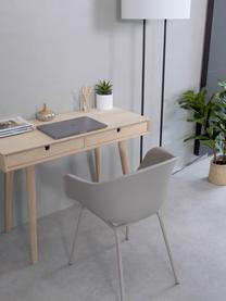 Schmaler Schreibtisch Century aus Eichenholz, Beine: Eichenholz, weiß pigmenti, Eiche, B 100 x T 45 cm