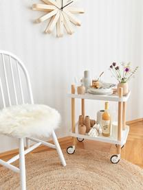 Sedia in legno design Windsor Megan 2 pz, Legno di caucciù verniciato, Bianco, Larg. 46 x Prof. 51 cm