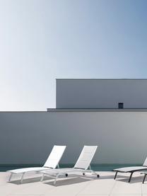 Gartenliege Cleopas in Weiß, Bezug: 100% Polyester, Gestell: Aluminium, pulverbeschich, Weiß, 61 x 192 cm