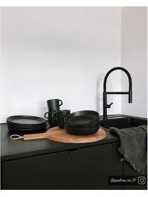 Piattino da dessert Nordic Kitchen 4 pz, Terracotta, Nero opaco, Ø 21 cm