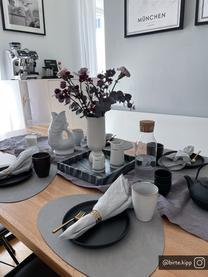 Assiettes à dessert Nordic Kitchen, 4pièces, Noir, mat
