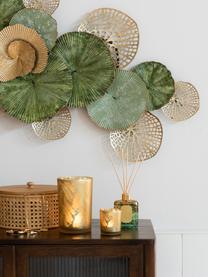 Diffusore Tropical Jungle, Contenitore: vetro, Verde, dorato, Larg. 9 x Alt. 27 cm