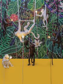 Design Außentischlampe Monkey mit Stecker, Leuchte: Kunstharz, Schwarz, 46 x 54 cm