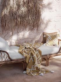 Bambus-Daybed Blond mit Liegepolster, Rahmen: Bambus, Bezug: Baumwolle, Bambusholz, Weiß, B 185 x T 78 cm