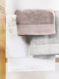 Handtuch-Set Premium mit klassischer Zierbordüre, 3-tlg., Hellgrau, Set mit verschiedenen Grössen
