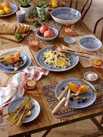 Salatbesteck Oasis aus Akazienholz mit roségoldfarbenen Griffen, 2er-Set, Besteck: Akazienholz, Griffe: Edelstahl, beschichtet, Kupfer, Holz, L 34 cm