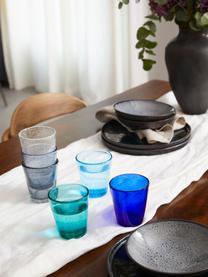 Set 6 bicchieri acqua con bolle d'aria Baita, Vetro, Tonalità blu, Ø 9 x Alt. 10 cm