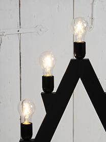 E27 Leuchtmittel, 2W, warmweiß, 1 Stück, Leuchtmittelschirm: Glas, Leuchtmittelfassung: Aluminium, Transparent, Ø 6 x H 11 cm