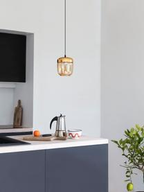 Mała lampa wisząca ze szkła Acorn, Odcienie miedzi, odcienie bursztynowego, Ø 14 x W 16 cm