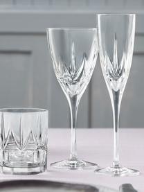 Kryształowy kieliszek do szampana Chic, 6 szt., Szkło kryształowe Luxion, Transparentny, Ø 6 x W 24 cm