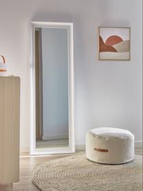 Lustro ścienne z drewnianą ramą Romila, Biały, S 52 x W 153 cm