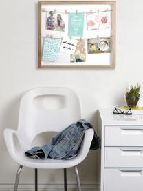 Marco Clothesline, Parte trasera: fibras de densidad media, Madera de Paulownia, blanco, beige, An 52 x Al 45 cm