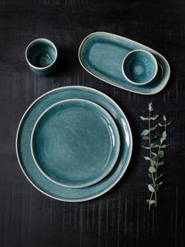 Ontbijtborden Audrey, 2 stuks, Keramiek, Grijsgroen, Ø 20 cm