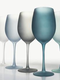 Set 6 bicchieri vino Happy Hour, Vetro, Tonalità blu, Ø 9 x Alt. 24 cm