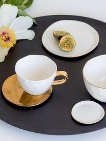 Talerz do chleba Good Morning, Porcelana, Biały, odcienie złotego, Ø 17 cm