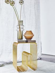 Beistelltisch Curve mit Zeitungsfach, Metall, lackiert, Goldfarben, 33 x 43 cm