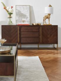 Credenza con finitura in acacia e ante Class, Legno d'acacia, ottonato, Larg. 180 x Alt. 80 cm