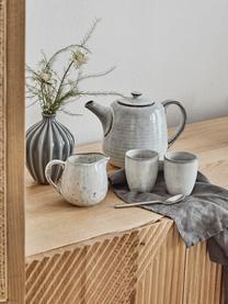 Handgemachtes Milchkännchen Nordic Sand aus Steingut, 300 ml, Steingut, Sand, Ø 12 x H 9 cm