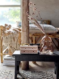 Schmuckbox Henny, Mitteldichte Holzfaserplatte (MDF), Polyresin beschichtet, Braun, Cremeweiß, 18 x 8 cm