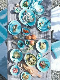 Talerz śniadaniowy z porcelany Plage, 2 szt., Porcelana z celowo popękaną powierzchnią (craquelé), Turkusowy, S 20 x W 2 cm