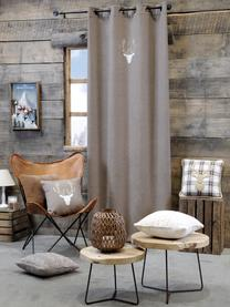 Poduszka z wypełnieniem Tamber, Tapicerka: 50% bawełna, 32% wełna, 7, Szary, S 40 x D 40 cm