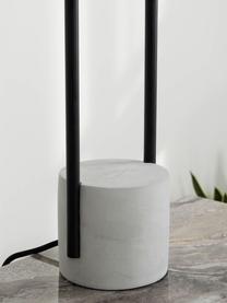 Grande lampe à poser pied en béton Pipero, Abat-jour: blanc Pied de lampe: noir, mat, gris Câble: noir