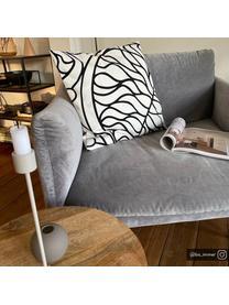 Fauteuil moderne velours gris Moby, Velours gris