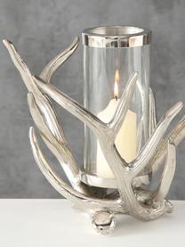 Windlicht Antlers, Windlicht: Aluminium, Transparent, Aluminium, 33 x 25 cm