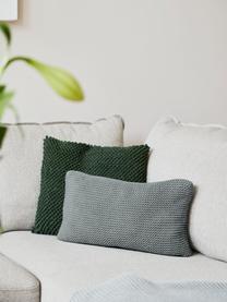 Strick-Kissenhülle Adalyn aus Bio-Baumwolle in Salbeigrün, 100% Bio-Baumwolle, GOTS-zertifiziert, Salbeigrün, 40 x 60 cm