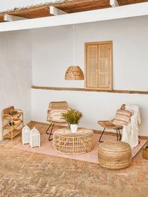 Tavolino da salotto in rattan Kim, Rattan, finitura naturale, Rattan, Ø 80 x Alt. 35 cm