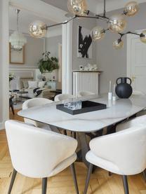 Fluwelen armstoel Celia in modern design, Bekleding: fluweel (polyester) De be, Poten: gepoedercoat metaal, Fluweel beige, B 57 x D 62 cm