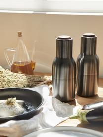 Set macina spezie Bottle Grinder 2 pz, Coperchio: legno di noce, Antracite, Ø 8 x Alt. 21 cm