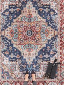 Teppich Sylla im Vintage Style, Blau, Rot, B 200 x L 290 cm (Größe L)