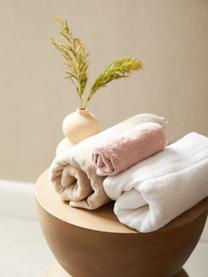 Handtuch Premium in verschiedenen Größen, mit klassischer Zierbordüre, Altrosa, XS Gästehandtuch